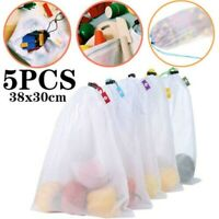 5pcs Reusable Grocery Bags Produce Fruit Bag Eco Friendly Shopping Mesh Bags Hot
