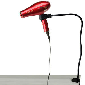Hands-Free Hair Dryer Holder Hair Dryer Mount Stand W Clamp - Fit 50MM Desk