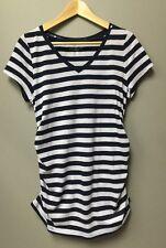 Liz Lange Maternity Women's Top Tee stripe shirt T-shirt Navy blue Size XS