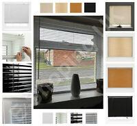 Venetian Blinds PVC Window Blind Home Office Easy Fit Wood Wooden Grain Effects