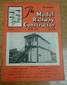 MODEL RAILWAY CONSTRUCTOR MAGAZINE - JUNE 1950  VOL 17, NO 195