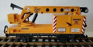 LGB 4042 Matra Operating Crane Car *G-Scale* Nice !!