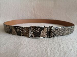 ZARA Belt Men's Silver Buckle Snakeskin Python Real Leather with tags Size 38/95