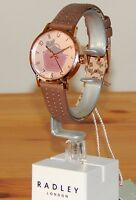 Radley RY2346 Border Rose Gold Marsupial Leather Watch Dog & Handbag NEW-RRP:£85