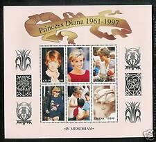 GHANA # 2004-2005 a-f PRINCESS DIANA MEMORIAL Miniature Sheets
