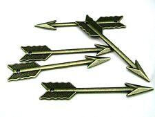 5 pcs bronze antique charmes flèche Jeux Vintage Bijoux Pendentif artisanal-C153
