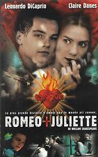 cassette VHS.  ROMEO + JULIETTE ( léonardo di caprio, claire danes).