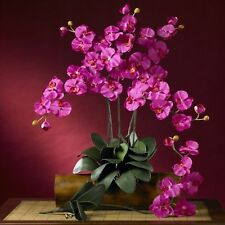 Decorative Natural Looking Artificial Beauty Phalaenopsis Silk Orchid Faux Plant