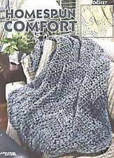 Homespun CONFORT CROCHET PATTERN 5 Afghan Designs Leisure Arts