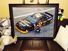 Rusty Wallace Framed NASCAR Autographed  #2 Miller Genuine Draft Pontiac Picture
