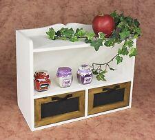 Mensola Mini Kommode 12014 Scaffale 37cm Vintage Shabby Cottage da Cucina Bianco