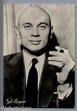 YUL BRYNNER Hollywood Cinema Star circa 1960 ITALY Real Photo PC Vera foto