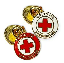 Vaccinated Enamel button Pin shot 2021 lab coat jacket backpack brooch vaccine