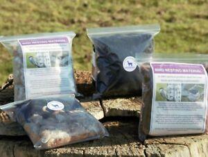 Alpaca Bird Nesting Fleece Bag-100% Natural Alpaca Fibre Wool for Nesting Birds
