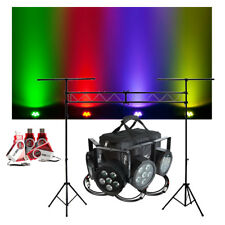 Chauvet DJ Lighting SlimPACK Q6 USB (4) LED Par Can Lights D-Fi Pack & Truss