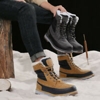 Winter Men Snow Boots Waterproof Faux Leather Thickened Non-slip High Boots
