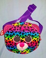 Ty Dotty Beanie Boo - kids rainbow leopard shoulder bag / purse - FREE SHIPPING