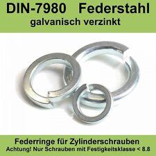 M8 DIN 7980 Federringe für Zylinderschrauben verzinkte Federstahl Stahl 20-500ST