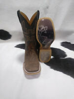 Tin Haul Boots Mens Tin Haul Western Shattered Cowboy Boots, Square Toe