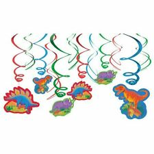 12pk Prehistoric Party Swirls Decorations Dinosaur Birthday Decorations