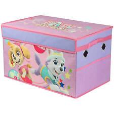 PAW Patrol Character Girl Toy Box Kids Playroom Storage Nickelodeon Skye Everest