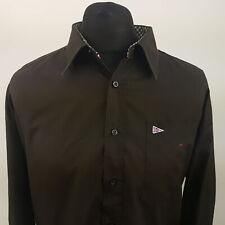 Paul Smith Mens Shirt 3XL Long Sleeve Brown Regular Fit No Pattern Cotton