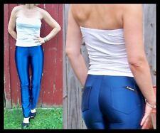 Disco Spandex Pants Blue Vintage Danskin Jeans Size 11/12