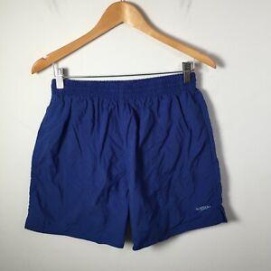 Speedo mens swim shorts size XL nylon blue elastic waist pockets