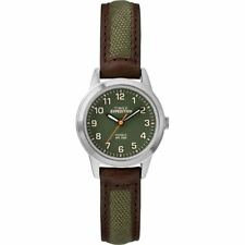 "Timex TW4B12000, Women's ""Expedition"" Brown Leather/Nylon Watch, Indiglo"