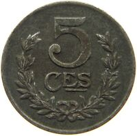 LUXEMBOURG 5 CENTIMES 1921 RARE #s4 503
