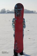 G4G Custom 146 cm Camber Floral Snowboard
