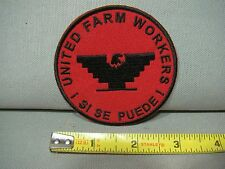 red & black United Farm Workers patch Si Se Puede patch UFW patch huelga patch