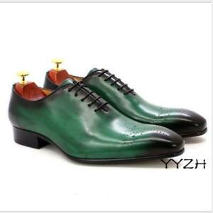 Men's Wedding Oxford Lace up Carved Dress Formal Leather Business Fashion Shoes