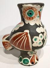 1968 RARE ORIGINAL PABLO PICASSO MADOURA POTTERY CERAMIC WOOD OWL VASE CHOUETTE