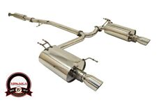 Yonaka Acura TSX 2004-2008 Stainless Steel Polished Dual Catback Exhaust CL9 K24