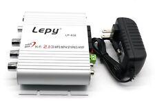 US Lepy LP-838 20W Mini HiFi BASS 2.1 Car Audio Amplifier For Mobile PC Car Auto