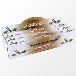 Elements/Stamford Sandalwood Incense Joss sticks. 20 sticks, 1 pack.