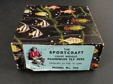The Sportcraft Aluminum Fly Reel Model No 100 Vintage Fishing Original Box Only