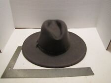 7c5454dc95ed3 VINTAGE STETSON CRUSHABLE WESTERN HAT GREY 100% WOOL USA ELKHORN SZ SMALL  USED