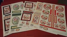 5 x A4 Sheets Of Christmas die cut decoupage STACKERS #3 By Buzzcraft