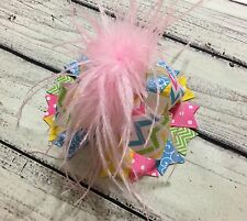 Easter Pastel Color / Multi Color Over The Top Boutique Stacked Hair Bows