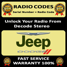 UNLOCK RADIO CODES DODGE T00BE T00 AM CHARGER STEREO CODES PIN DECODE SERVICE