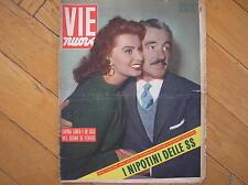 SOPHIA LOREN VITTORIO DE SICA COVER 1955 IN COPERTINA MAGAZINE VIE NUOVE