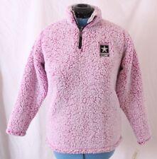 J. America US Army Plush 1/4 Quarter Zip Pullover Sweatshirt Jacket Women's M