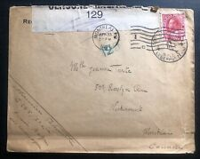 1917 Canadian Army PO In Belgium Censored Cover OAS To Montreal Canada