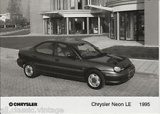 PRESS - FOTO/PHOTO/PICTURE - Chrysler Neon 1995