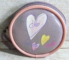 "Rare! Vintage Barbie Vinyl Coin Purse Zippered Round 2-1/2"""