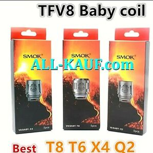 SMOK TFV8 Baby Verdampfer Coil X4 / Q2 / T6 / T8 / M2  Coil Atomizer Verdampfer