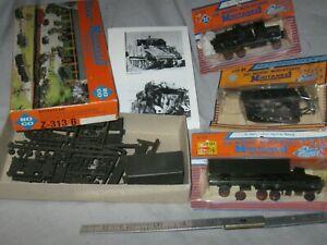 A6514 4 ROCO MINI TANKS, APC, GUN, TRUCKS, plastic kits