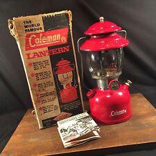 Vintage Coleman Lantern 200A in Original Box Single Mantel PRIORITY MAIL